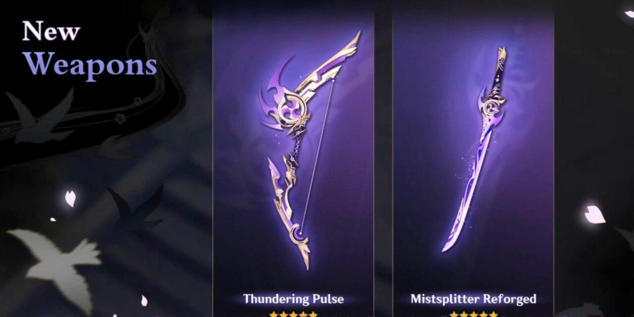 Berikut 7 Senjata Baru Di Genshin Impact 2.0